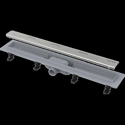 Alcaplast APZ8/Simple műanyag zuhanyfolyóka fém hullám ráccsal (750 mm)