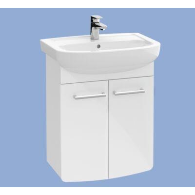 Alföldi Saval 2.0 fehér mosdószekrény, 7017 60 01 mosdóval (A897 E4 R1) Easyplus bevonattal