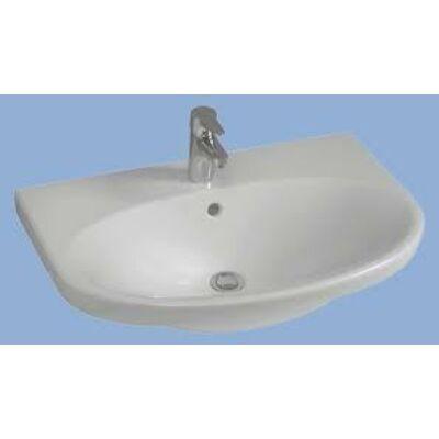 Alföldi Melina 5565 59 R1 beépíthető mosdó Easyplus bevonattal (fehér, 65 x 50 cm)