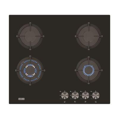 EVIDO MURANO 60B üveg gáz főzőlap fekete, 60 cm (HGM6WB.2)