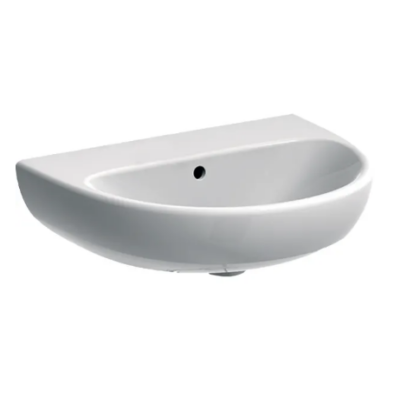 Geberit Selnova ovális mosdó túlfolyóval, csaplyuk nélkül 55 x 44 cm - 500.304.01.1 (M31055000)
