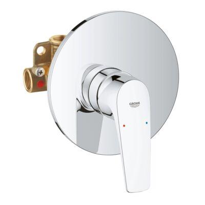 GROHE BauFlow falba építhető egykaros zuhanycsaptelep, komplett 29112000
