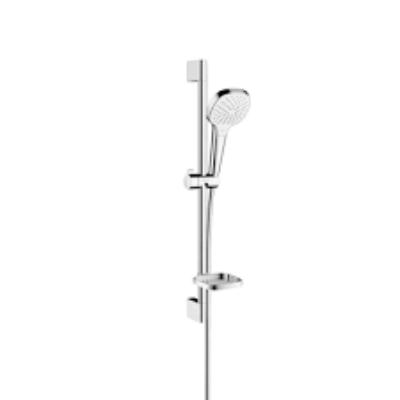 HANSGROHE Croma Select E Vario Unica zuhanyszett 65 cm-es zuhanyrúddal, szappantartóval fehér/króm (26586400)