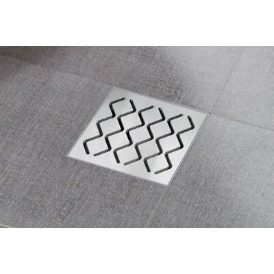 Ravak SN501 hullámmintás padlóösszefolyó 105x105/50 X01435