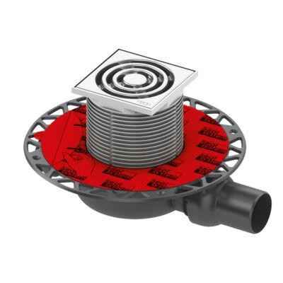 TECE drainpoint S 120 lefolyó szett, nemesacél (Szifon, rács, lefolyó, vízszigetelés) 3601200