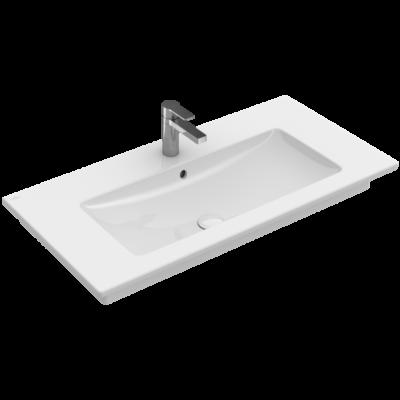 Villeroy & Boch Venticello 80x50 cm beépíthető szögletes mosdó, 1 csaplyukkal 41048L01