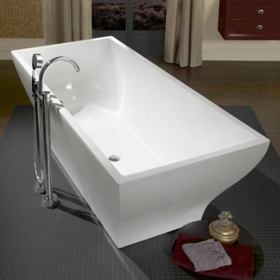 Villeroy & Boch La Belle szabadon álló fürdőkád, Quaryl panellel, krómozott le- és túlfolyóval 180x80 cm UBQ180LAB2PDV-01