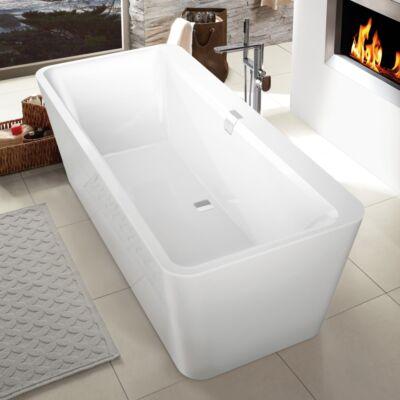 Villeroy & Boch Squaro Edge 12 szabadon álló fürdőkád, a kád színével azonos panellel 180x80 cm UBQ180SQE7PDV-01